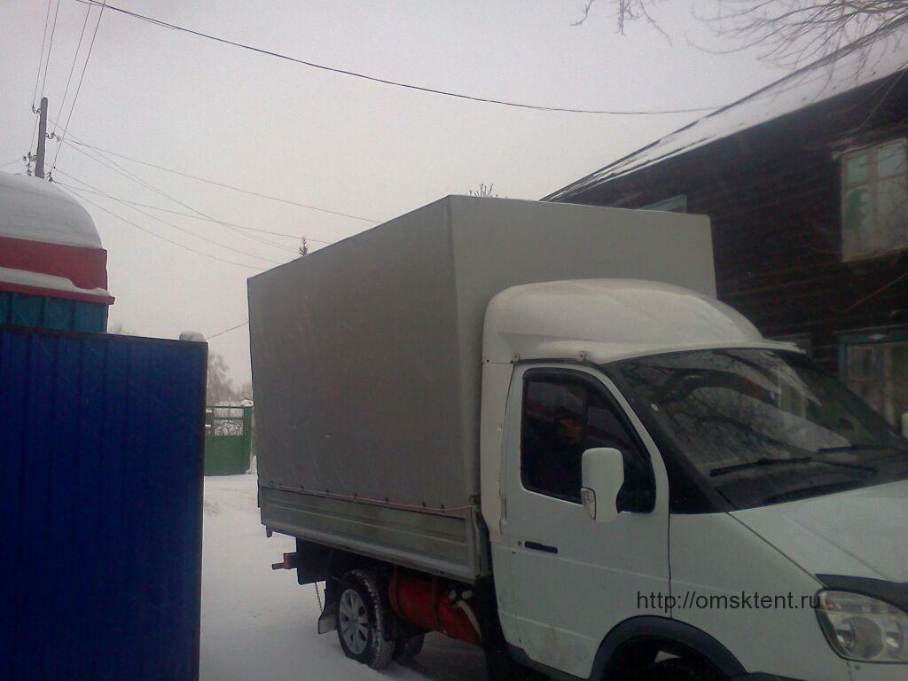 Изготовление прямоугольного тента на грузовик Газель в Омске
