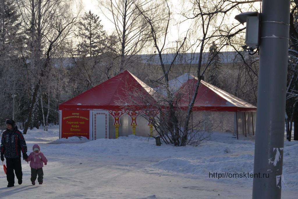 Производство и монтаж зимних шатров для новогодних праздничных мероприятий