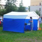 Палатка торговая из полиэстера с козырьком, 300х300х250 сантиметров