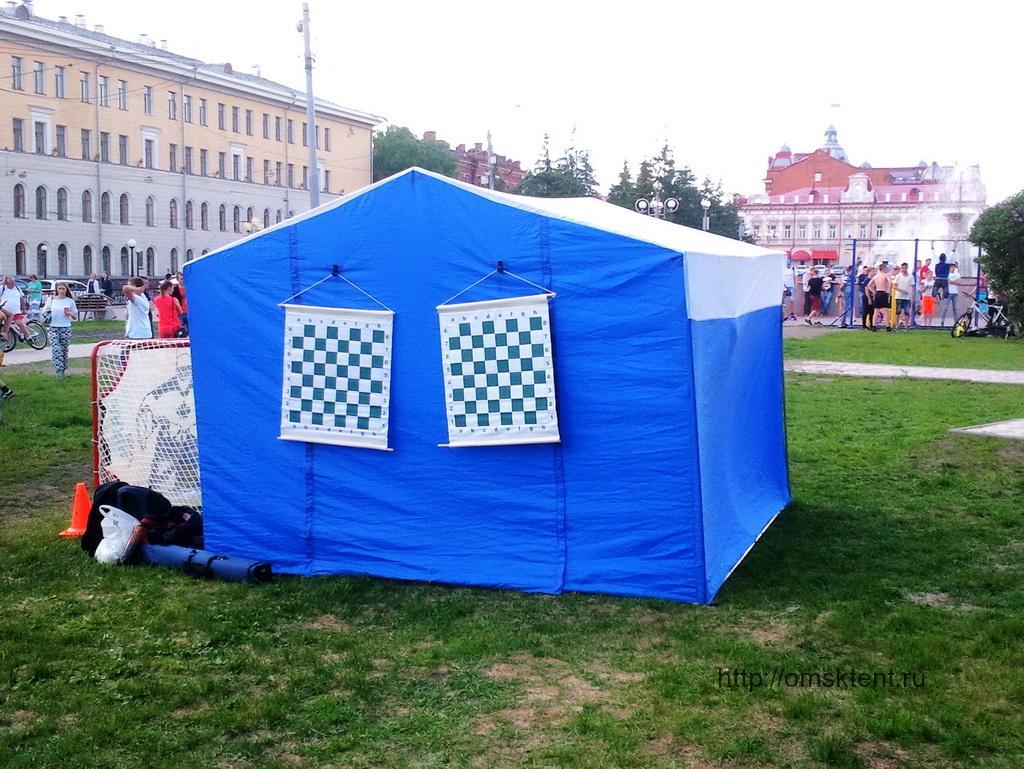 Торговая палатка 3х3х2,5 метра с козырьком и белой крышей