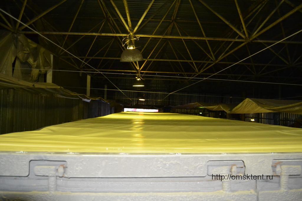 Крыша тента-чулка полуприцепа Krone