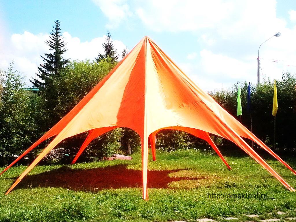 Вантовый шатер красный