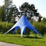 Вантовый шатер синего цвета