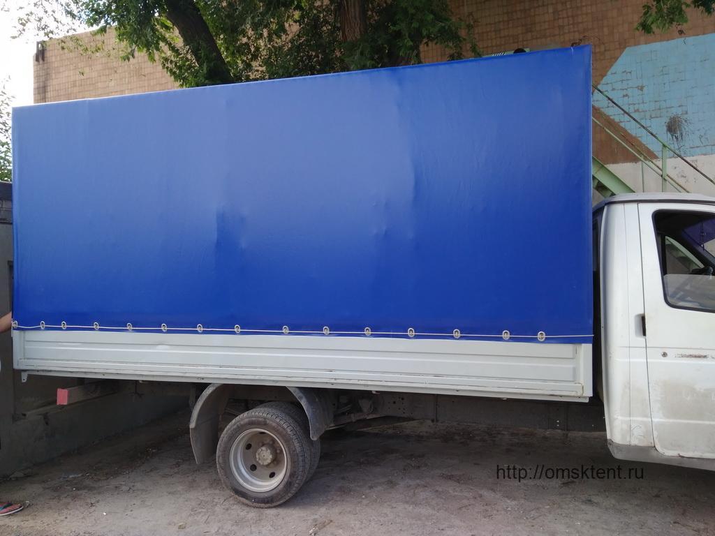 Тент-ПВХ синего цвета на «Газель»