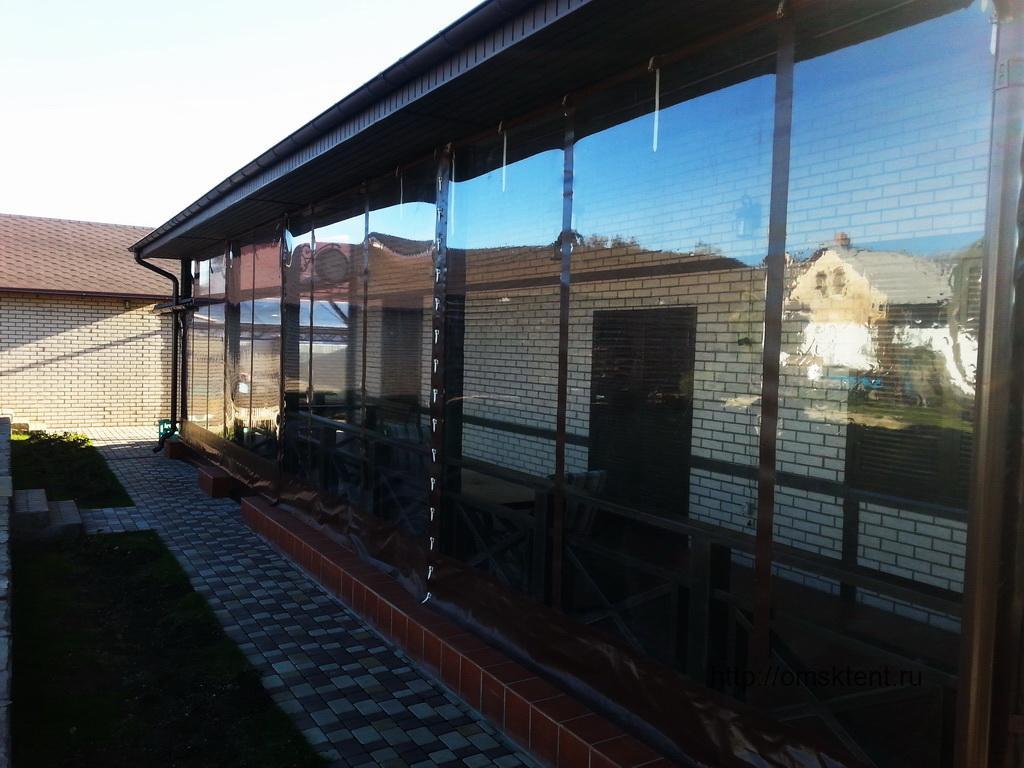 Гибкие окна для террасы. Тенты в Омске. Омсктент