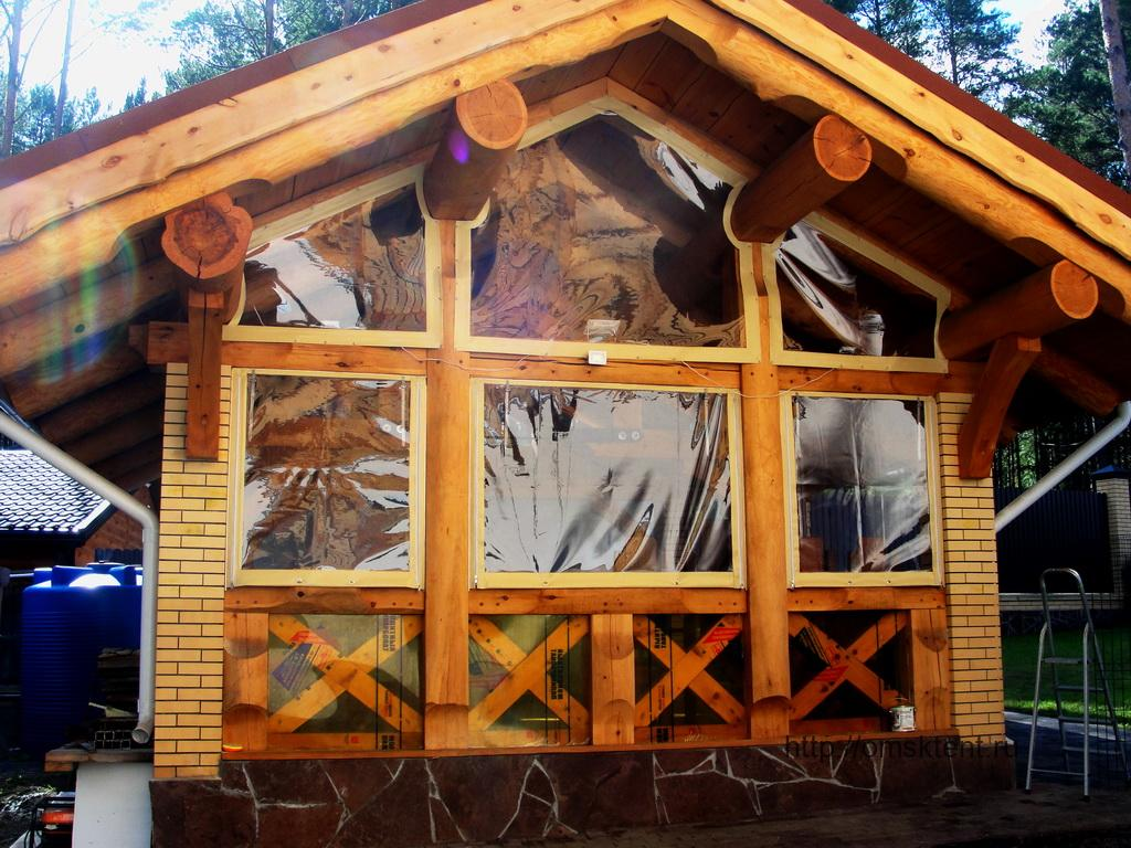 Мягкие окна для беседки в Омске