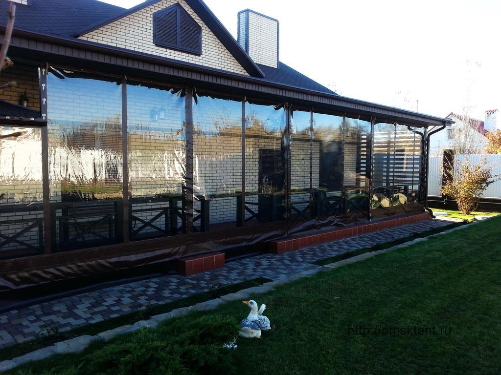 Мягкие окна для террасы. Тенты в Омске. Омсктент