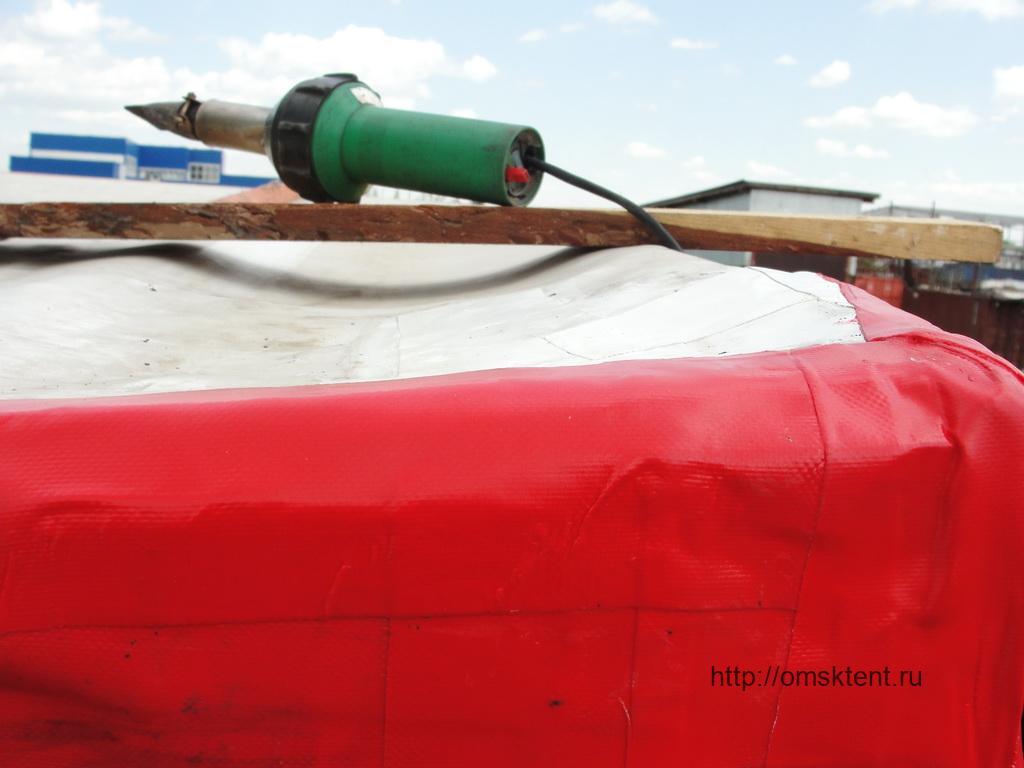 Ремонт угла тента грузового автомобиля «МАЗ»