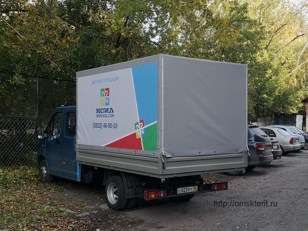 Тент с рекламой на грузовик «Газель-Фермер Next»