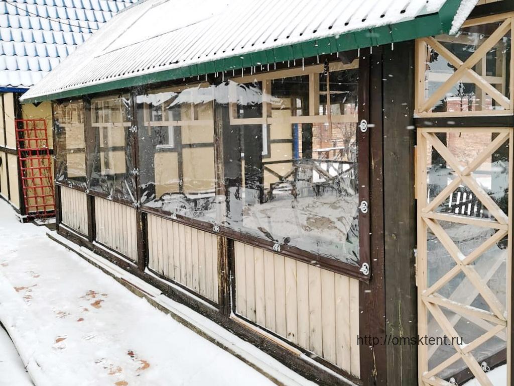 Гибкие окна на беседку в Ребровке