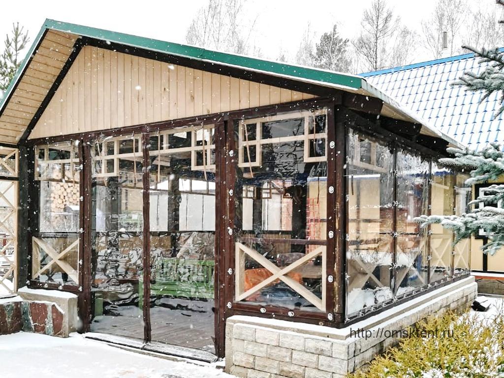 Мягкие окна на беседку в Ребровке