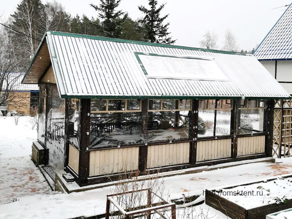 Мягкие окна-ПВХ на беседку в Ребровке