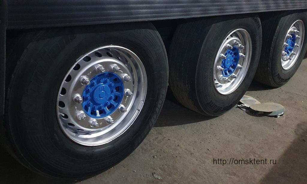 Покраска дисков колес полуприцепа Schmitz