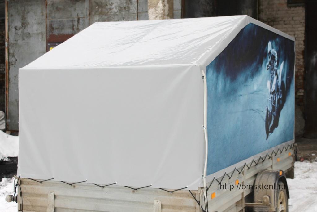 Тент и баннер на прицеп МЗСА 817717.015 в Омске
