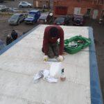 Запайка тента-крыши грузовика