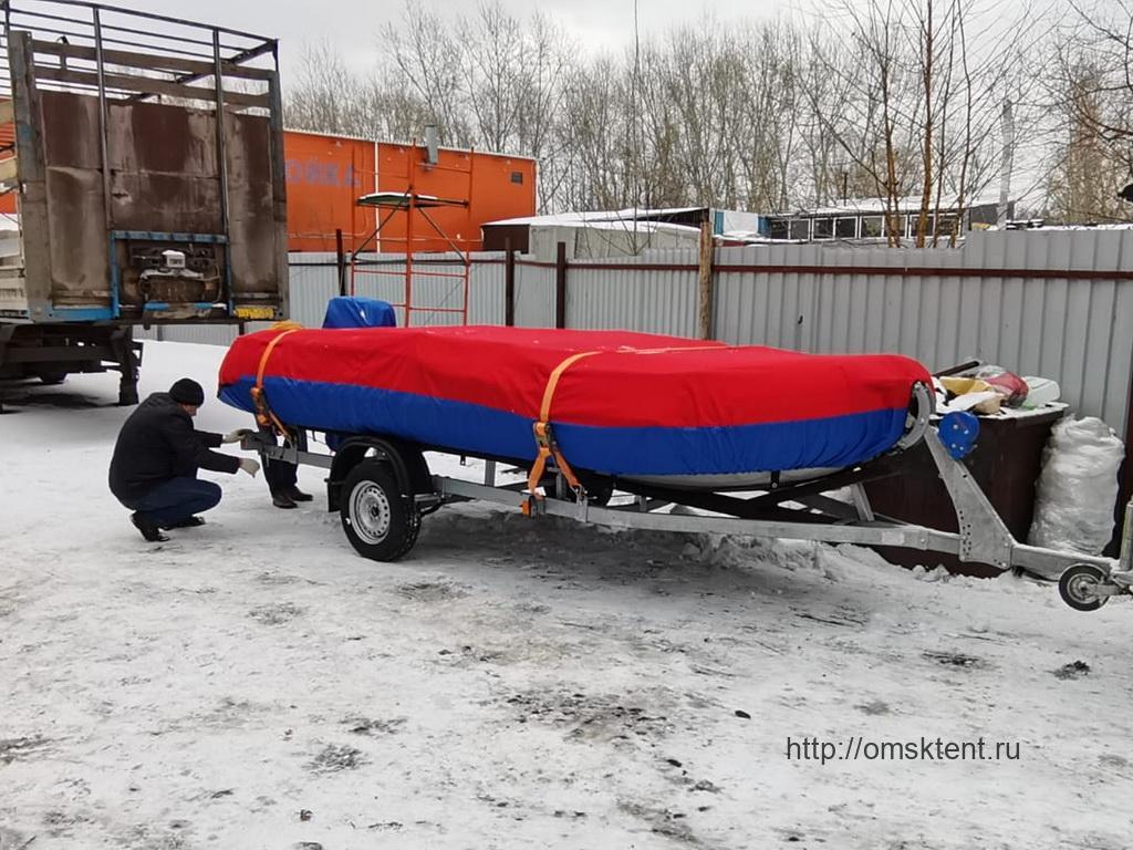Защитный тент на лодку-ПВХ «Флагман-450»