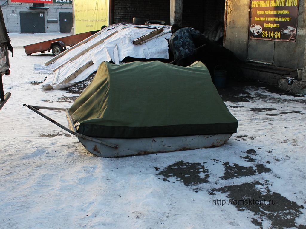 Тент на сани снегохода в Омске