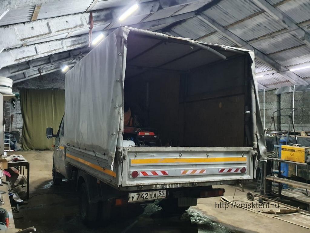 Установка клапана на тент грузовика «Газель-Фермер»